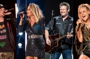 Kane Brown, Miranda Lambert, Blake Shelton and Carrie Underwood; Photos By Andrew Wendowski