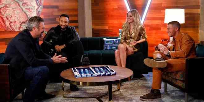Blake Shelton, John Legend, Kelsea Ballerini, Nick Jonas; Photo by: Trae Patton/NBC