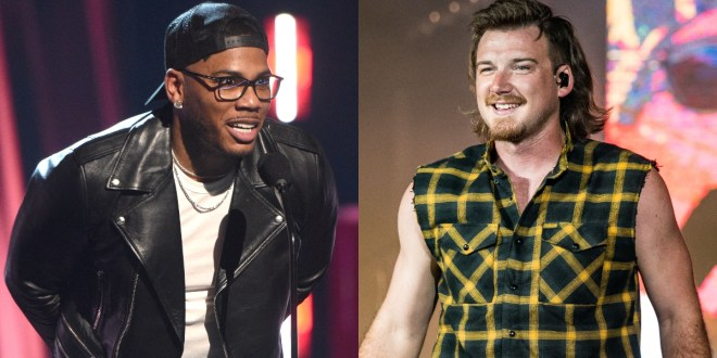 Nelly, Photo Courtesy of Getty Images; Morgan Wallen, Photo by Andrew Wendowski