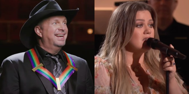 Garth Brooks and Kelly Clarkson; Photo Courtesy of YouTube