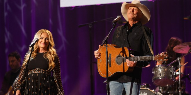 Lee Ann Womack & Alan Jackson; Photo by Getty Images for ACM