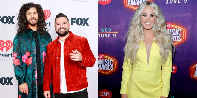 Dan + Shay, Photo Courtesy of iHeartRadio; Carrie Underwood, Photo Courtesy of CMT