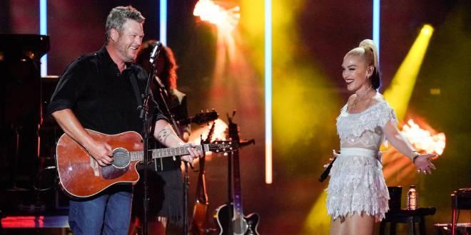Blake Shelton & Gwen Stefani; Photo Courtesy of ABC/CMA Summer Jam