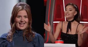 Lana Scott and Ariana Grande; Photo Courtesy of The Voice/NBC