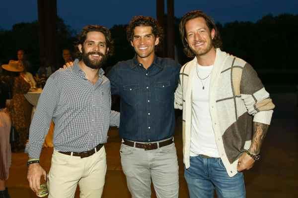 Thomas Rhett, Miles Adcox & Florida Georgia Line's Tyler Hubbard; Photo Courtesy of Terry Wyatt/OnSite Foundation