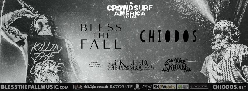 Chiodos & BlessTheFall announce co-headlining tour with I KILLED THE PROM QUEEN & capture the crown
