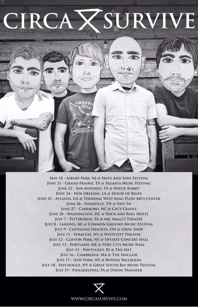 Circa Survive Announce 2014 Summer Tour 2014