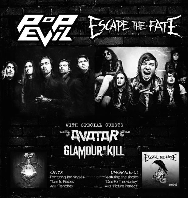 Escape The Fate & Pop Evil Announce Co-Headlining tour 2014