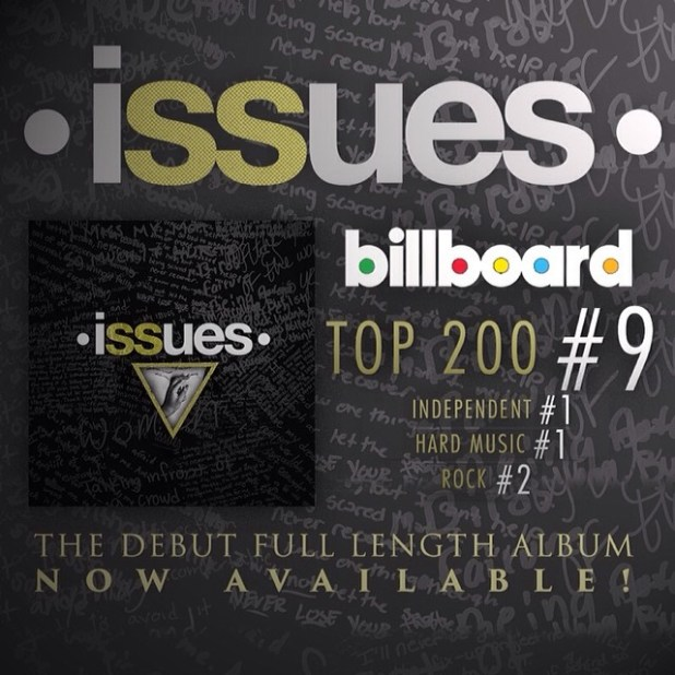 ISSUES Self Titled Album Debuts at Billboard #9