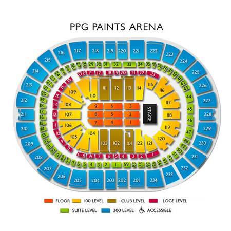 Justin Timberlake Concert Tickets- Row A-PPG Paints Arena 9/25/18