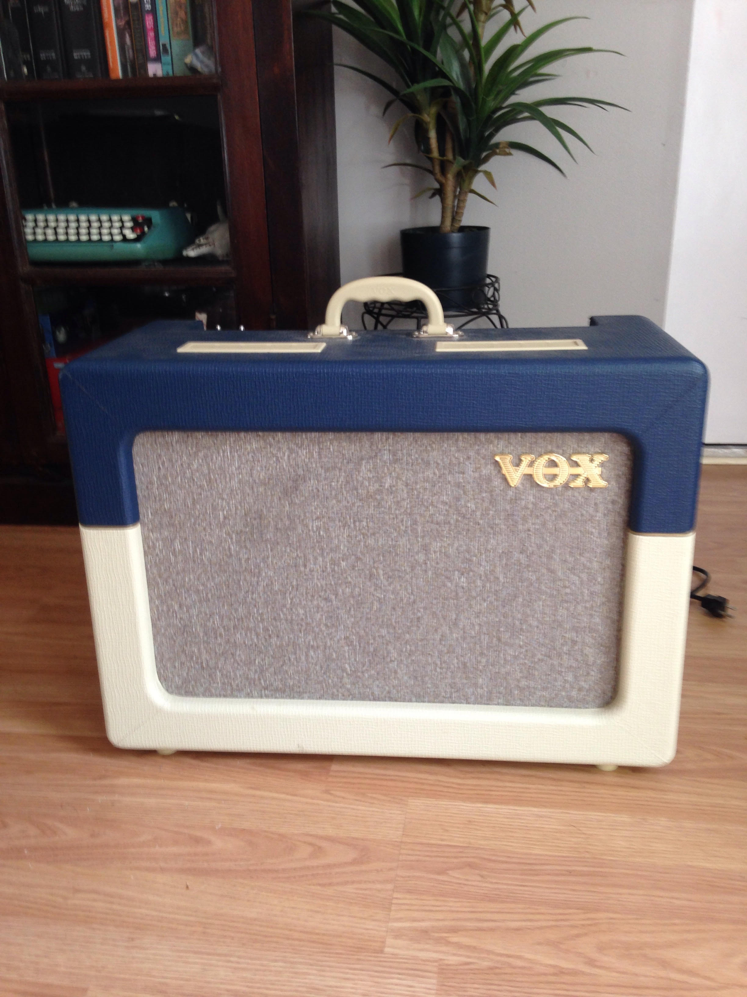 Vox AC15C1-TV Blue and Cream Tube Amp For Sale