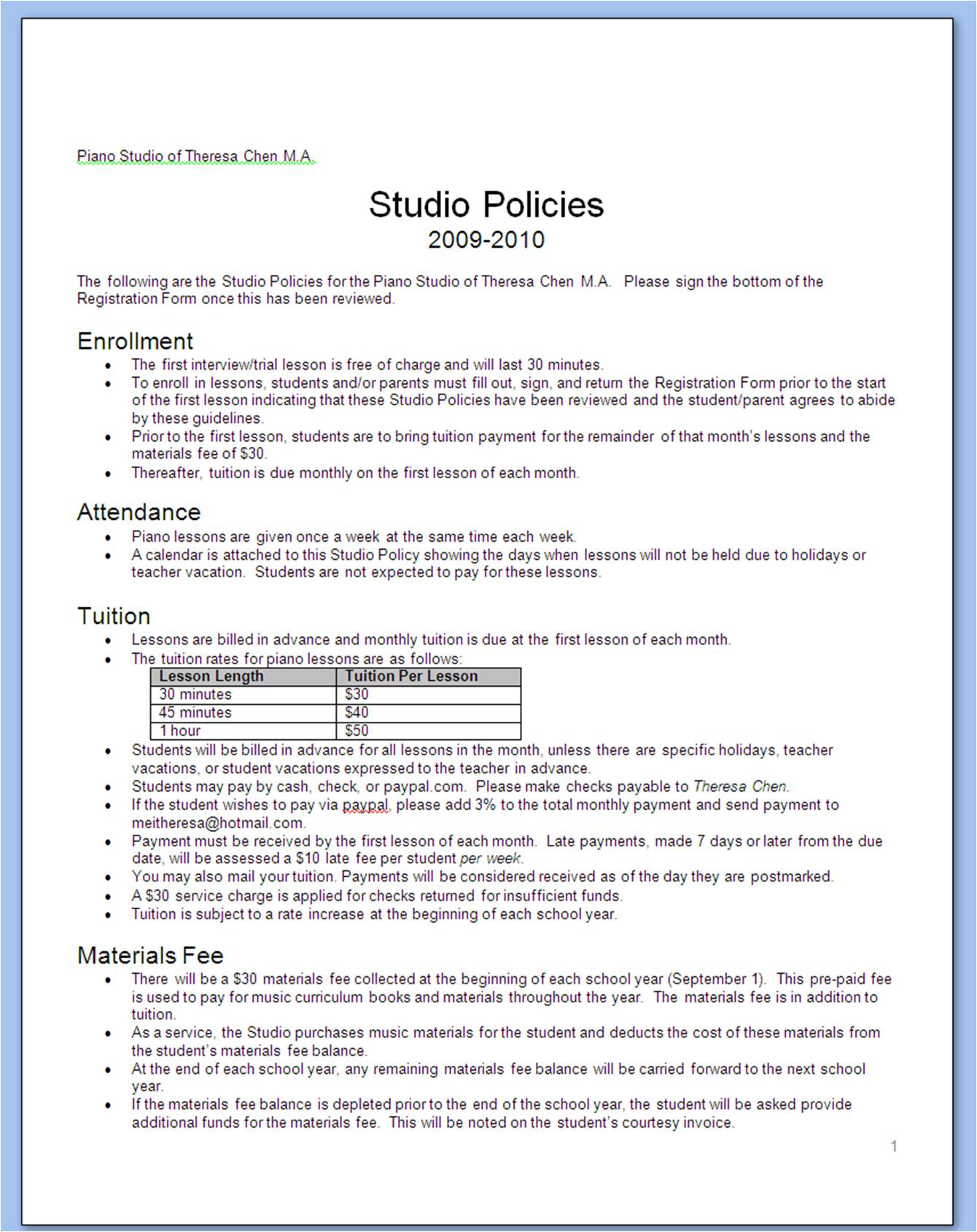 Data Retention Policy Template functional requirements document – Attendance Policy Template