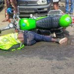 SO SAD!! Truck Crushes ORide Motorcycle Operator To Death In Lagos (Photo)