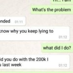 Conversation Between A Girl and her boyfriend Because of the Money She Borrowed Him