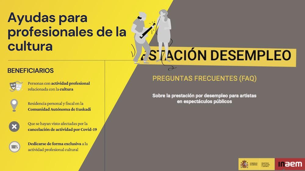 Ayudas para profesionales de la cultura / Kulturako profesionalentzako laguntzak