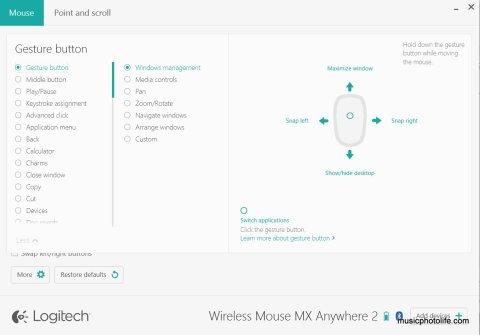 Logitech MX Anywhere2 screenshot