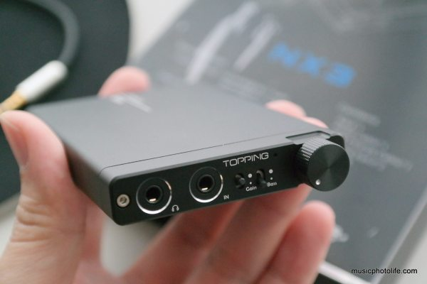 TOPPING NX3 portable amplifier review by musicphotolife.com