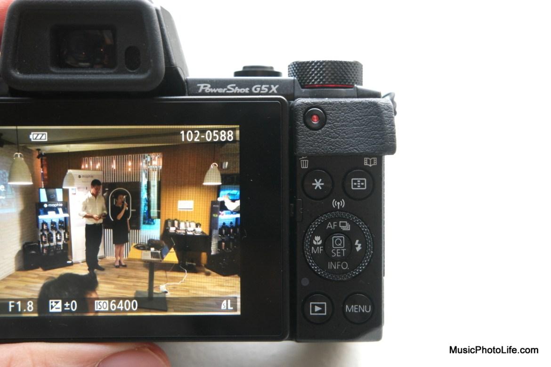 Canon G5X rear controls