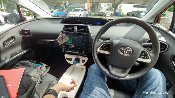 Toyota Prius 2016 driver's view