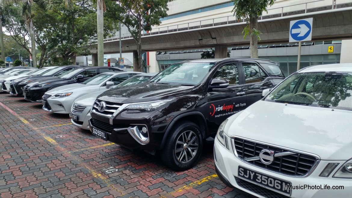 Toyota Fortuner parks tall among the cars