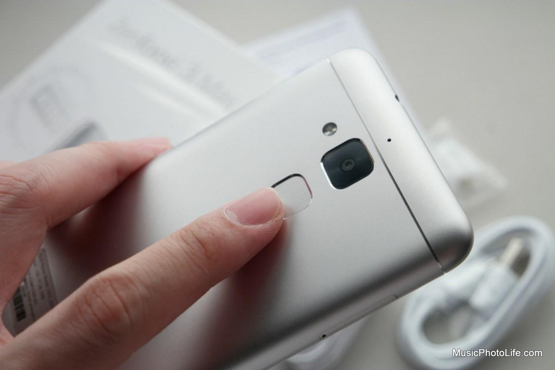 ASUS Zenfone 3 Max fingerprint sensor - review by musicphotolife.com