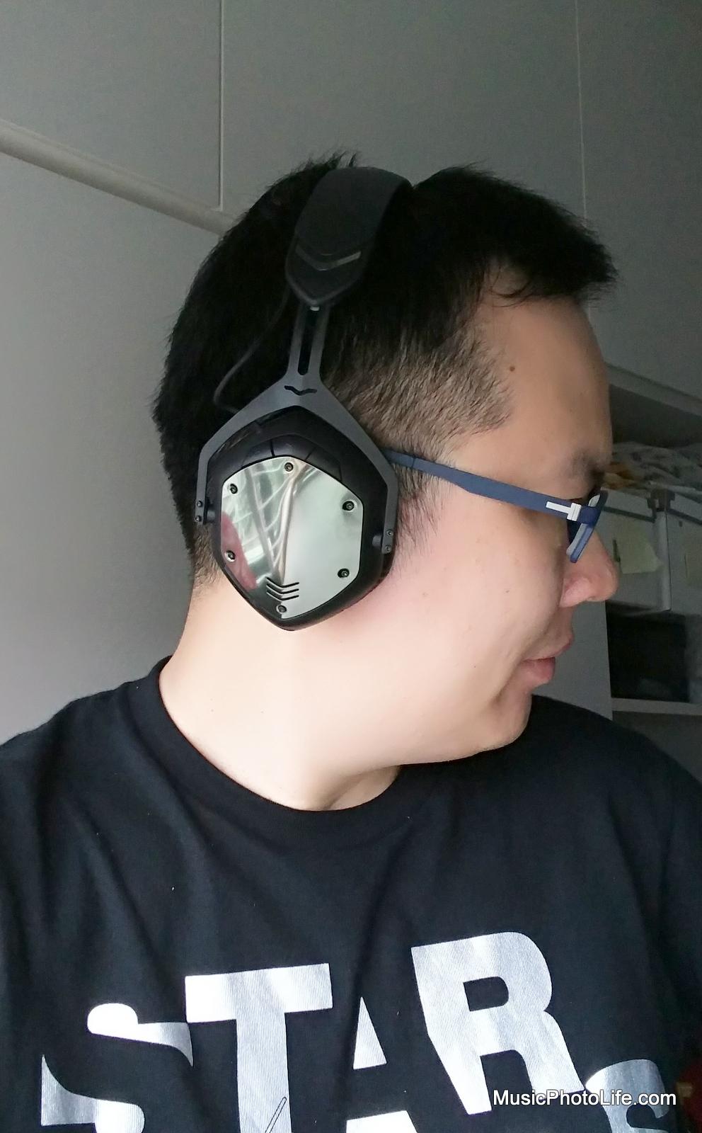 V-MODA Crossfade Wireless on my ears