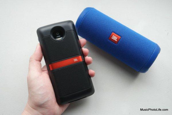 Moto Mod JBL Soundboost speaker review by musicphotolife.com
