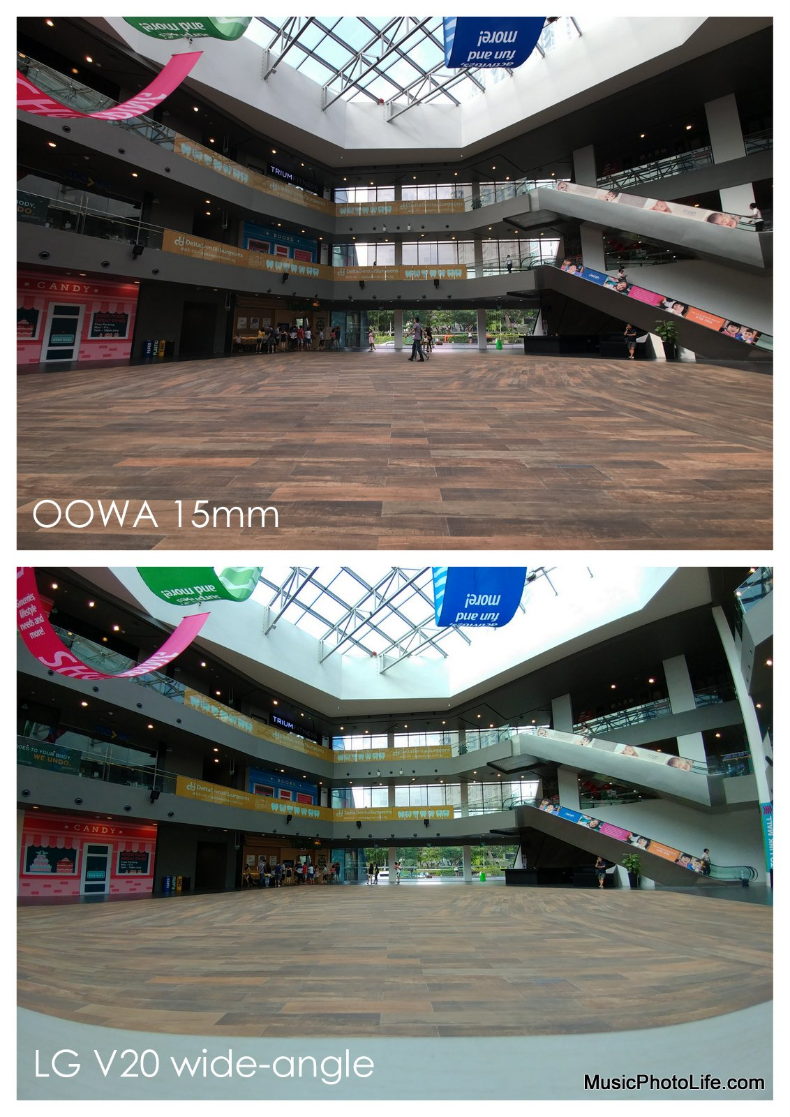 OOWA 15mm compares with LG V20