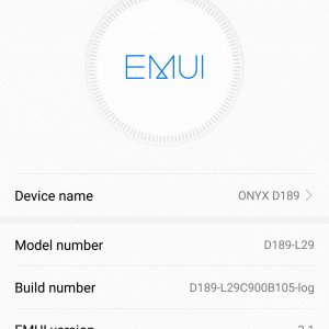 Huawei P10 Plus pre-production EMUI version