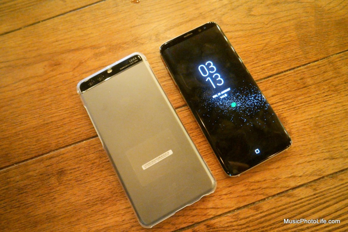 Samsung Galaxy S8 compare with Huawei P10 Plus by musicphotolife.com