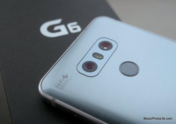 LG G6 rear dual cameras, review by musicphotolife.com