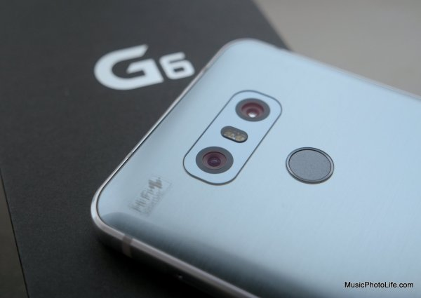 LG G6 rear dual cameras, review by musicphotolife.com