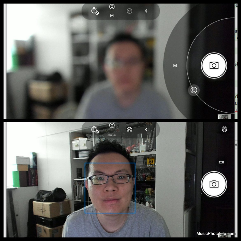 logitech BRIO face detection auto focus, or manual focus via camera app