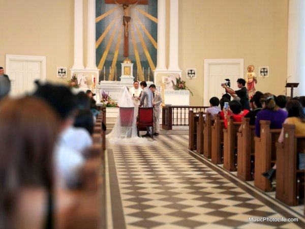 Church Wedding shot with Huawei P10 Plus