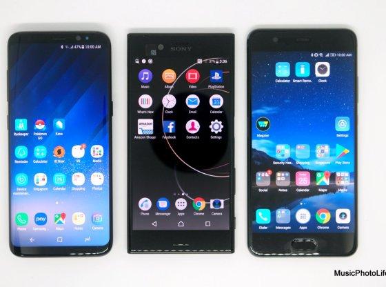 Samsung Galaxy S8, Sony Xperia XZs, Huawei P10 Plus