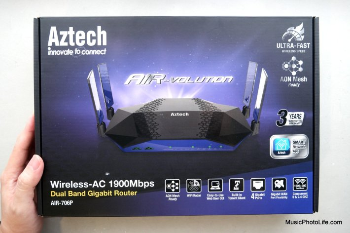Aztech AIR-706P Mesh Router review by musicphotolife.com