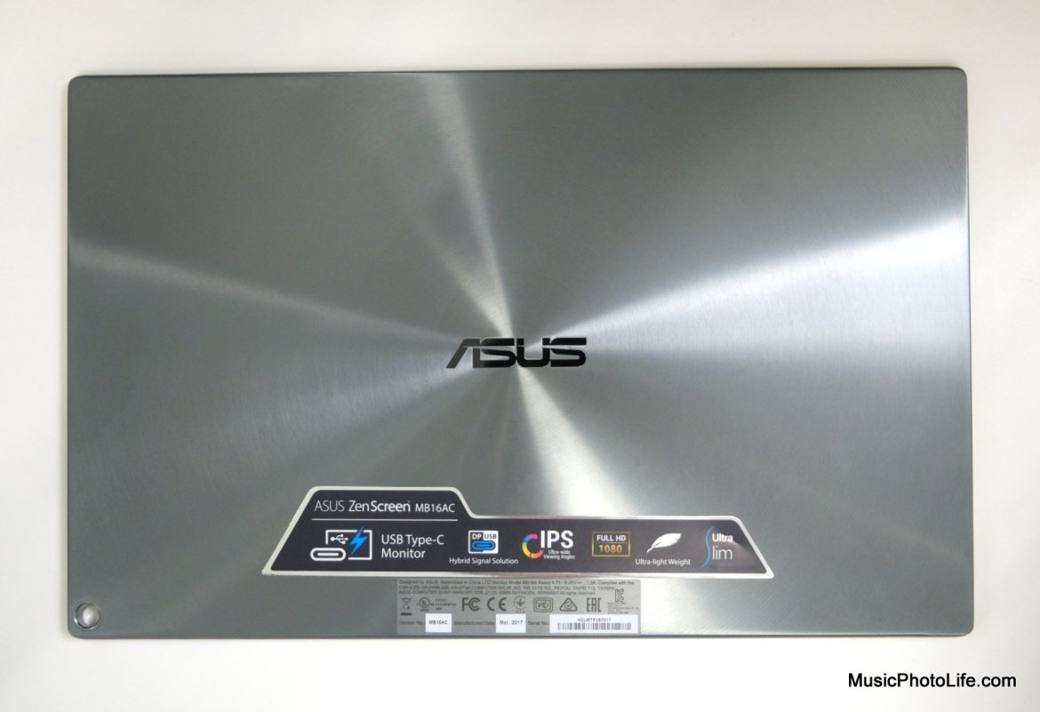 ASUS ZenScreen MB16AC portable USB monitor review by Chester Tan musicphotolife.com