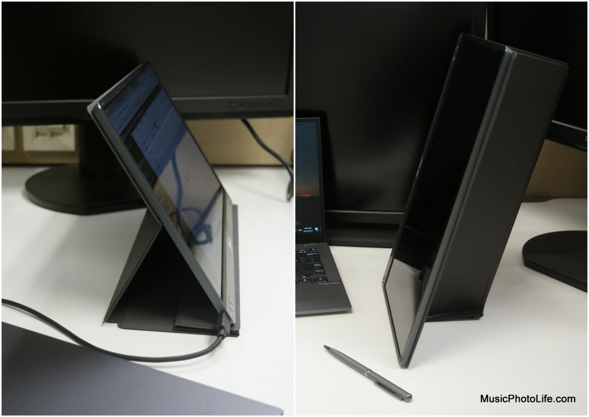 ASUS ZenScreen MB16AC portable USB monitor, smart case can support vertical and horizontal stand