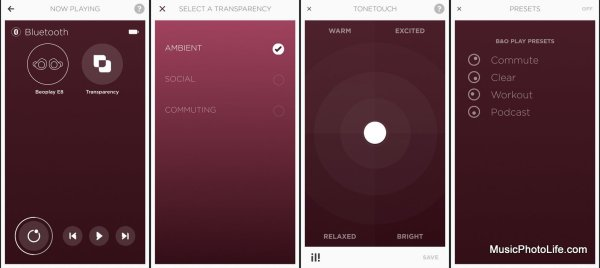 Beoplay app screens