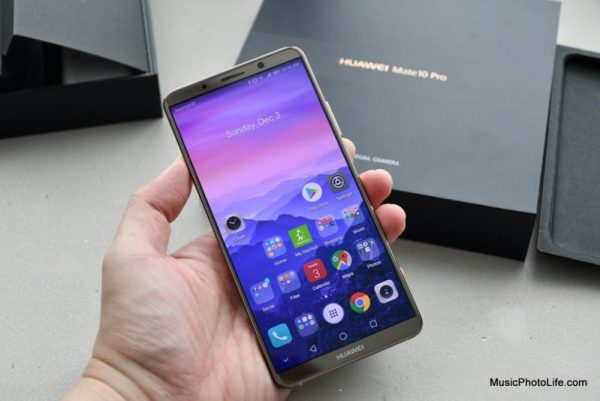 Huawei Mate 10 Pro hands on review by musicphotolife.com