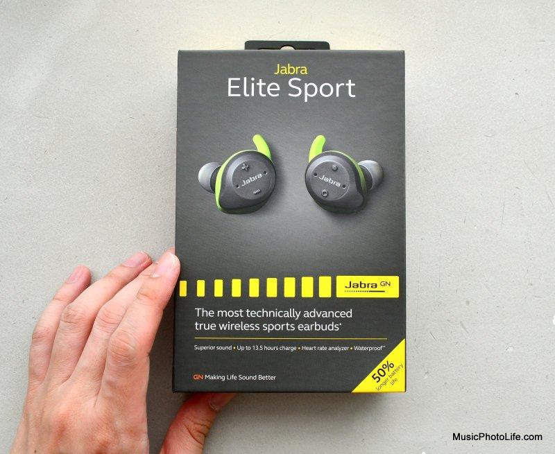 Jabra Elite Sport review box