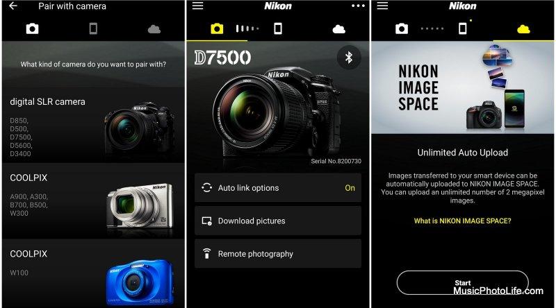 Nikon SnapBridge app
