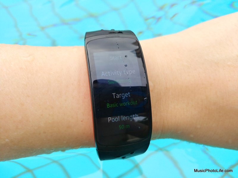 Samsung Gear Fit2 Pro water resistant