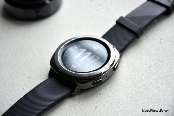 Samsung Gear Sport smartwatch closeup