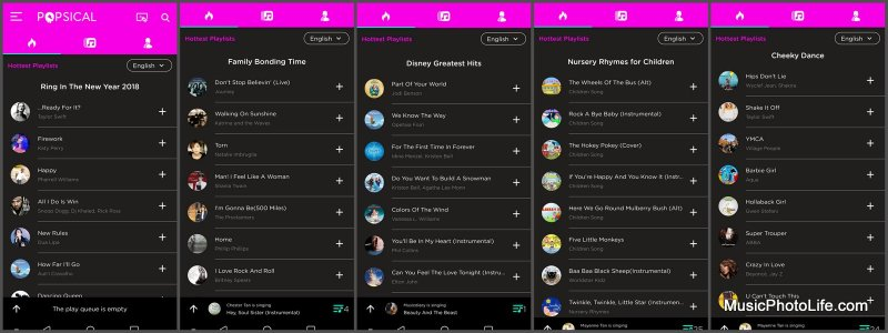 Popsical app curated playlists