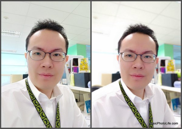Vivo V7+ Front Camera Portrait Mode