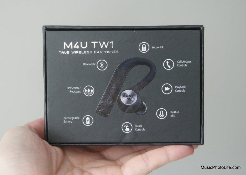PSB Speakers M4U TW1 true wireless earphones review by musicphotolife.com - retail box