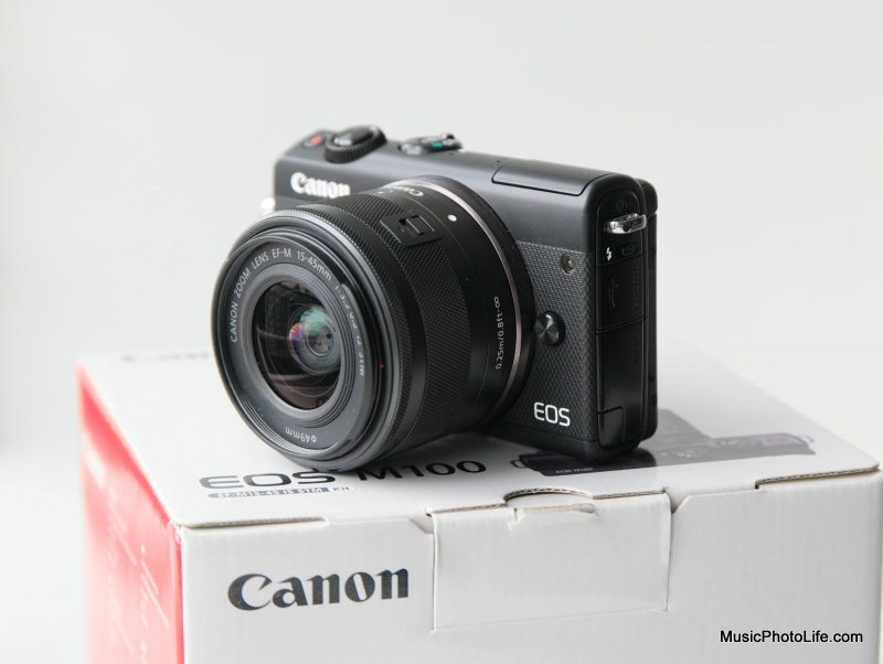 Canon EOS M100 mirrorless camera review by musicphotolife.com