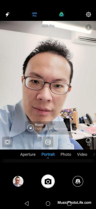 Huawei Nova 3i front camera app