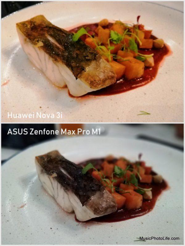 Huawei Nova 3i vs. ASUS Zenfone Max Pro M1 - camera sample: food